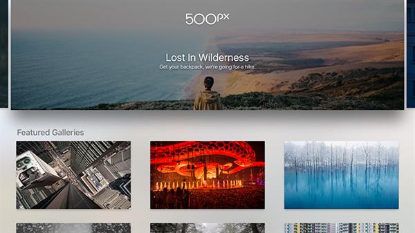 500px'in Apple TV uygulaması yayınlandı