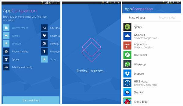 Android uygulamalarının Windows Phone'daki karşılığı burada