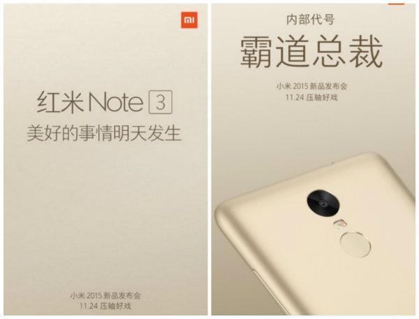 Xiaomi Redmi Note 3 geliyor