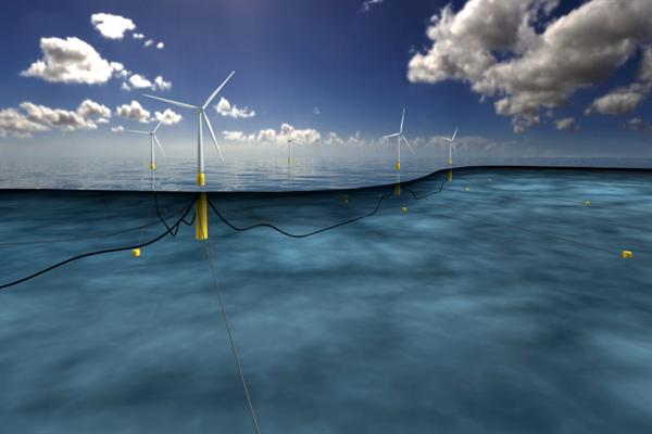 İskoçya'da denizde yüzen rüzgâr türbinleri inşa ediliyor