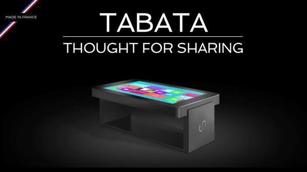 Masalar, devasa dokunmatik ekrana sahip birer bilgisayara dönüşüyor