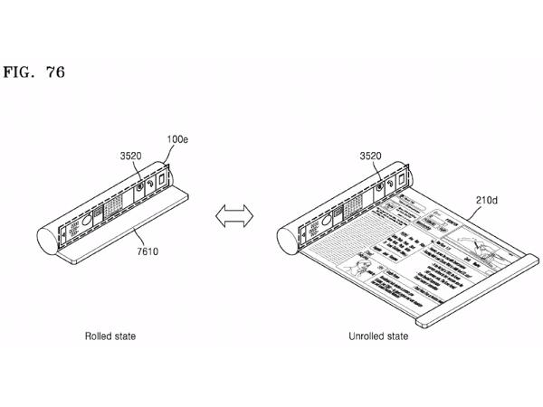Samsung telefonları gelecekte rulolanabilecek