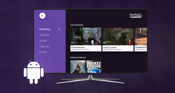 Twitch, Android TV'lere geldi