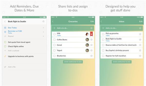 Wunderlist'in iOS uygulaması yenilendi