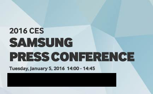 Samsung'un ilk basın etkinliği CES 2016'da