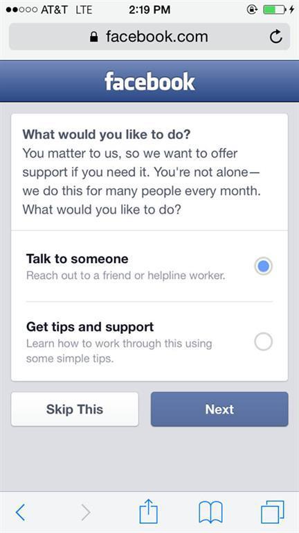 Facebook intiharları önlemeyi hedefliyor