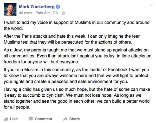 Zuckerberg'den Müslüman kullanıcılara önemli destek