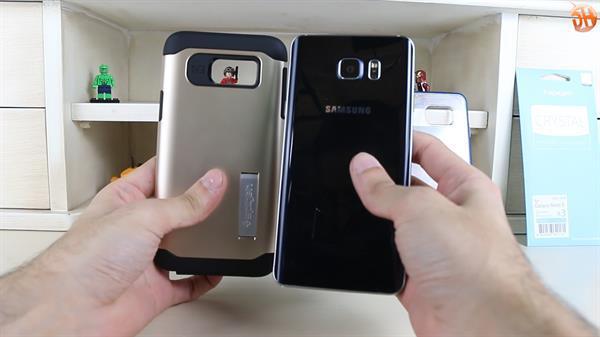 Spigen'in Samsung Note 5 ve S6 Edge Plus'a özel kılıfları inceleme videosu