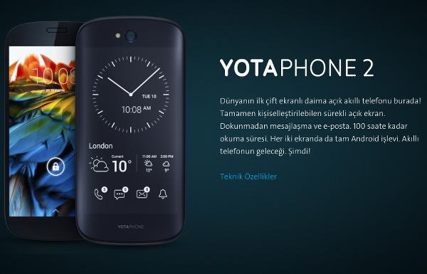 YotaPhone 2 ülkemize geliyor