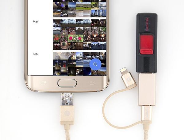 Anylink kablosu ile mobil cihazlar arasında şarj imkanı sunuluyor
