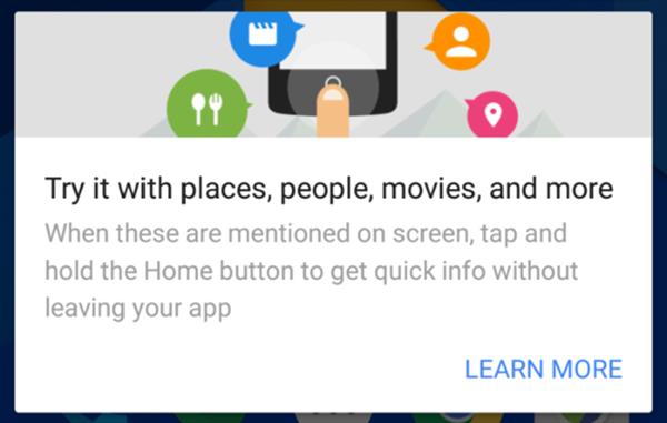 Google Now on Tap'a yeni özellikler
