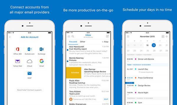 Outlook'un iOS sürümüne 3D Touch desteği