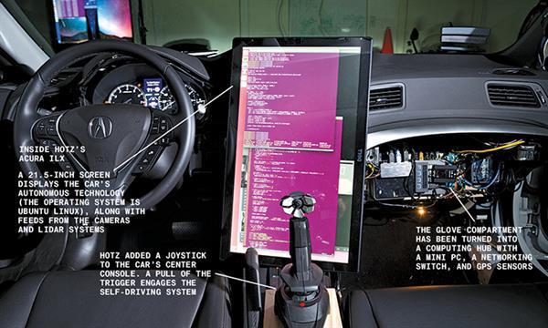Ünlü hacker George Hotz, garajında otonom araç üretti
