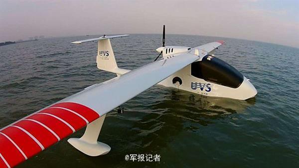 Çinli şirketin 'amfibi' iHA modeli ilk uçuşunu yaptı