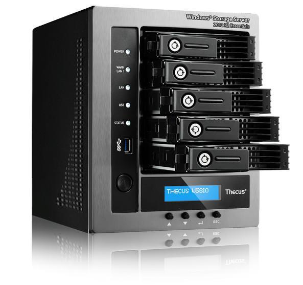 Thecus'dan 5 yuvalı NAS cihazı 40TB'a kadar depolama imkanı sunuyor