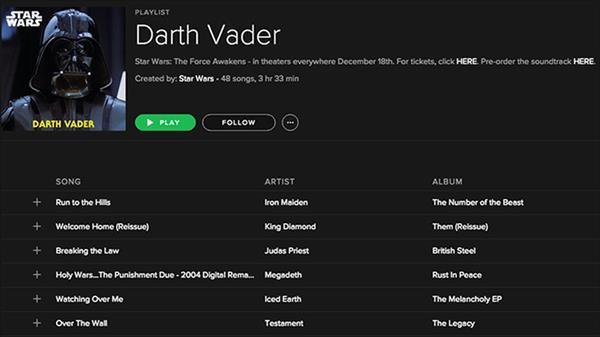 Spotify müzik zevkinize göre hangi Star Wars karakteri olduğunuzu belirliyor