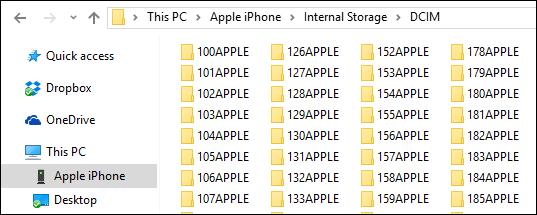 Windows'ta iOS cihazından medya içeriği nasıl aktarılır?