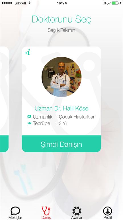 Mobil platformlarda sağlık danışmanlığı yapan uygulama: Doktorderki