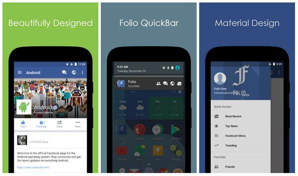 Alternatif Facebook uygulaması Folio, bataryanızı koruyor