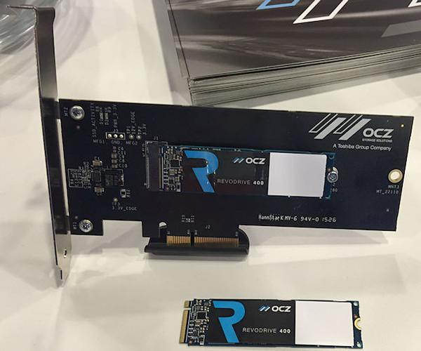 OCZ NVM Express RevoDrive 400 SSD serisi, CES 2016 fuarında