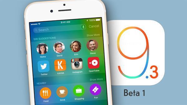 iOS 9.3'ün ilk betası yayınlandı