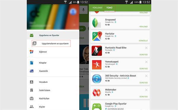 Android cihazından sildiğiniz uygulama ve oyunları kolayca bulun