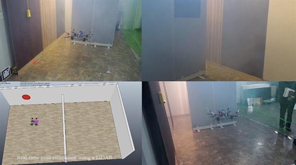 FAROS drone modeli, duvarda gezerek yangın tespiti yapabiliyor