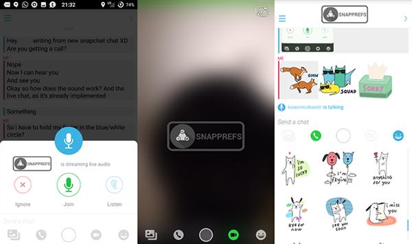 Snapchat'in yeni sohbet arayüzü ortaya çıktı