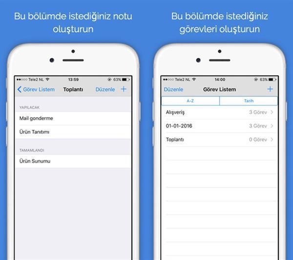 Yerli geliştiriciden iOS uyumlu yeni uygulama: Not Defterim