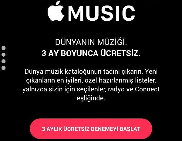 Apple Music ülkemizde yayına başladı