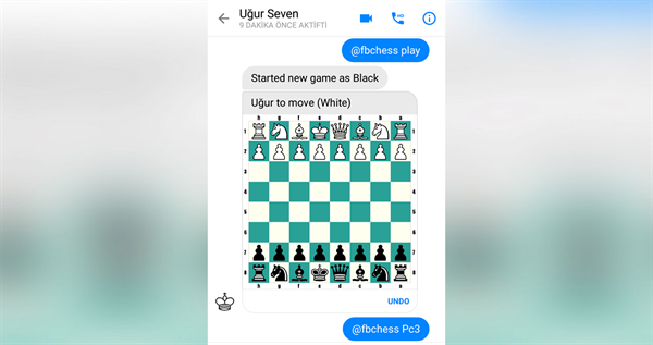 Facebook Messenger'a gizlenmiş satranç oyunu ortaya çıktı