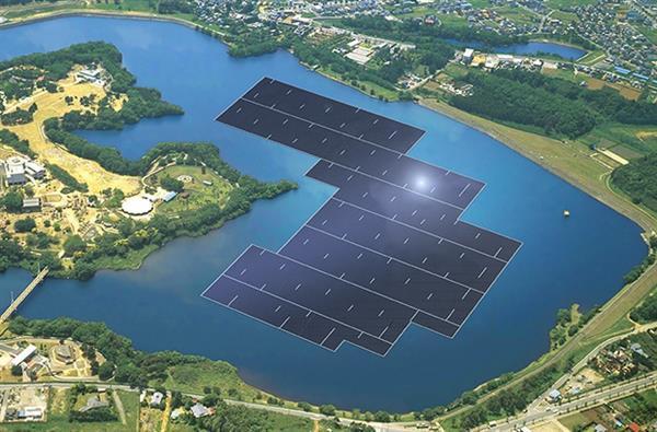 Dünyanın en büyük yüzen güneş panelleri Japonya'da yapılıyor