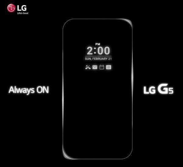 LG G5'te de ekran her zaman açık olacak