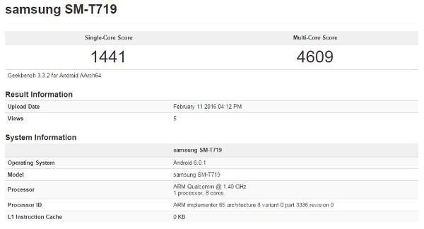 Yeni Galaxy Tab S serisi benchmark testlerinde göründü