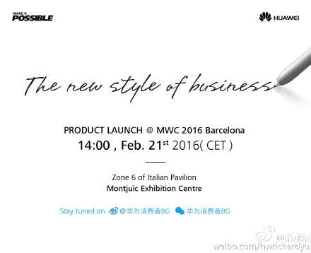 Huawei, ekran kalemi destekli yeni bir cihazını MWC 2016'ya getiriyor