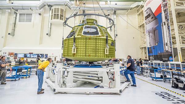 Mars'a insan taşıyacak olan Orion uzay kapsülü için test hazırlıkları