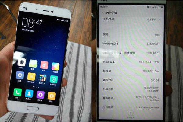 Xiaomi Mi 5 yeniden kamera karşısında
