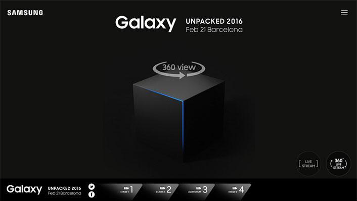 Samsung Galaxy S7 lansmanı 360 derece canlı yayınla izlenebilecek