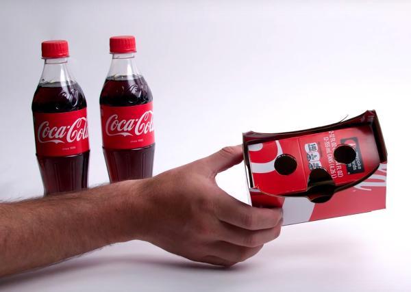 Coca Cola kartonlarından sanal gerçeklik gözlüğü