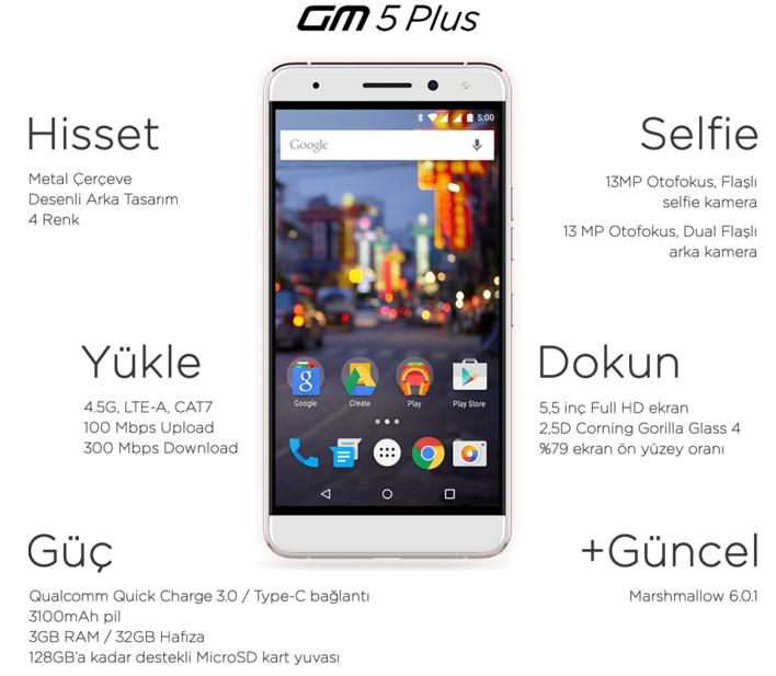 Karşınızda Android One'ın yeni temsilcisi: General Mobile GM 5 Plus