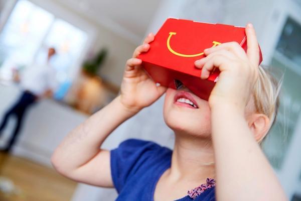 Happy Meal kutularından sanal gerçeklik gözlüğüne
