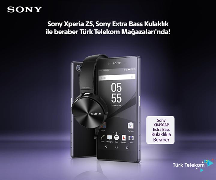 Sony Xperia Z5, özel Extra Bass kulaklık ile Türk Telekom Mağazaları'nda