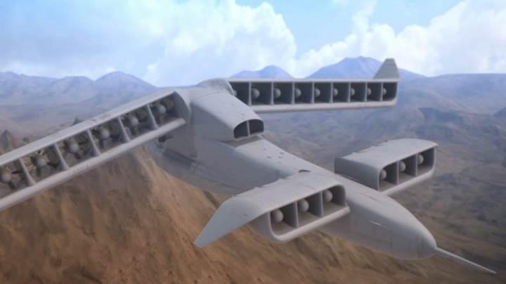 DARPA dikey kalkış ve iniş yapabilen hybrid uçak konseptini tanıttı