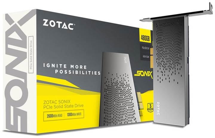 Zotac SONIX 480GB PCIe SSD modeli satışa sunuluyor