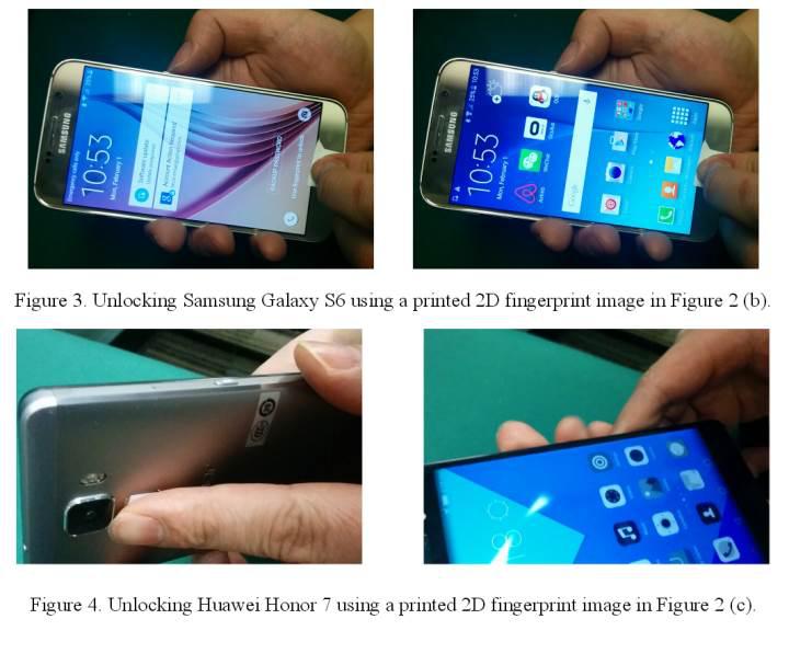 Parmak izi korumalı telefonlar bir mürekkep püskürtmeli yazıcıyla kırılabilir