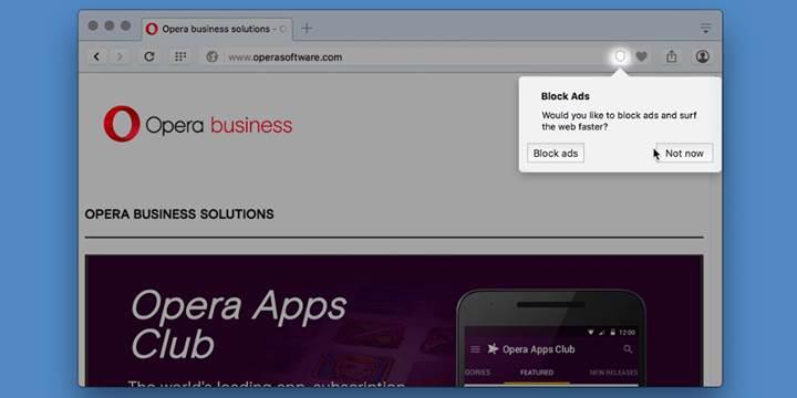 Opera 37, dahili reklam engelleyici ile geliyor ve Chrome'dan daha hızlı