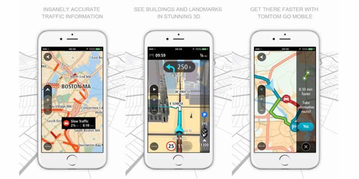 Tom Tom'un yeni iOS uygulamasında, 75Km navigasyon hediye