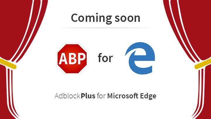 Microsoft Edge tarayıcısı için Adblock Plus eklentisi hazır
