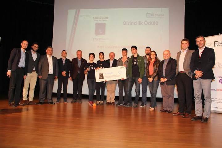 Türkiye'nin ilk 3D yazıcı temelli yarışması sona erdi