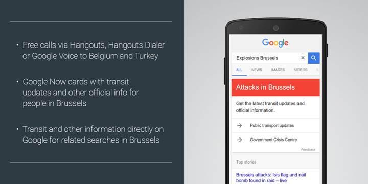 Google'dan Türkiye ve Belçika için ücretsiz Hangouts arama desteği